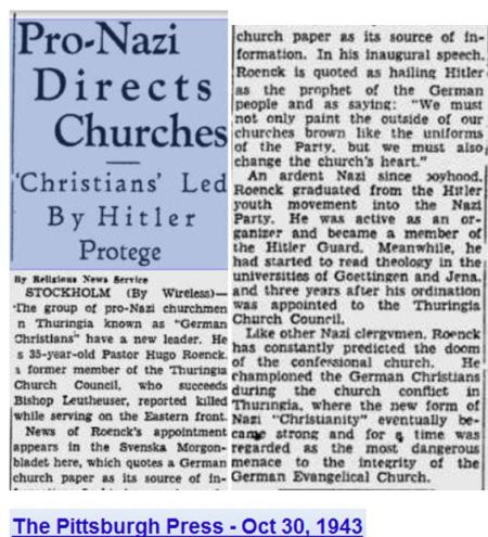 Christians led by Hitler