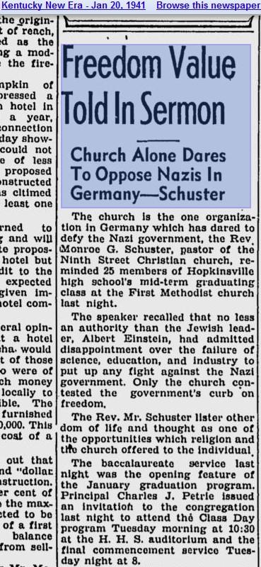 Church Dares Oppose Nazis