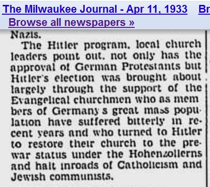 Churches elect Hitler