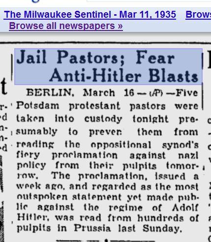 Pastors Jailed