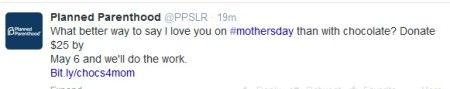 PP Mother's Day Tweet April 2014