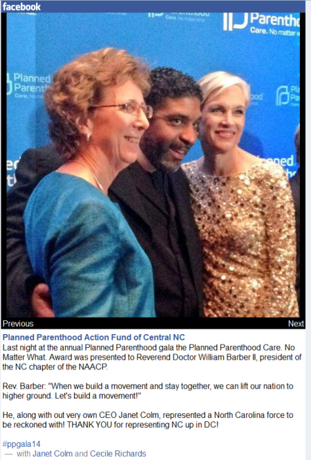 Rev William Barber PP Gala Acceptance CecileRichards Janet Colm