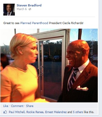 Steven Bradford March 2014Cecile Richards
