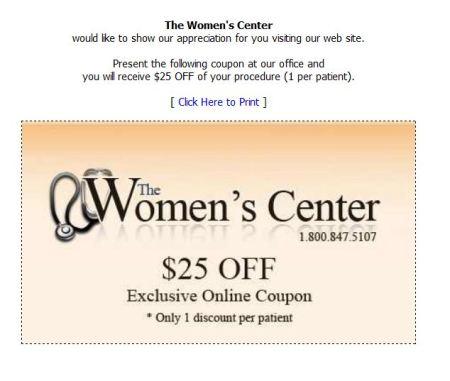 Women's Center Discount