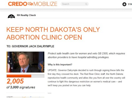 Credo Keep Abortion Clinic Open