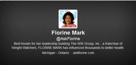 Florine Mark Twitter