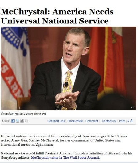 McCrystan Universal National Service