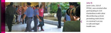 NC Janet Colm Arrested Moral Monday
