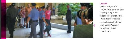 NC Janet Colm Arrested Moral Monday