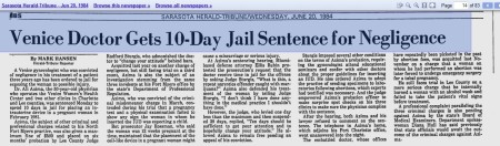 10 Days in Jail Azima abortion 1984