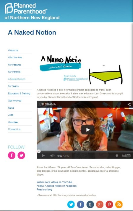 A Naked Notion  Planned Parenthood Laci Green