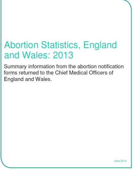 Abortion Stats June 2014 UK Front Page