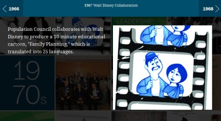 Disney colaborates with population council