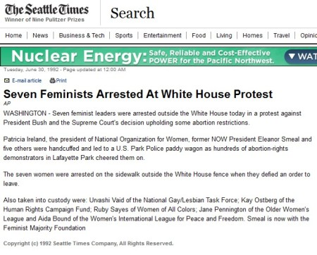Feminists Arrested Bush WH