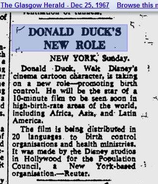 News Donald Ducks new rold birth control