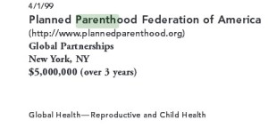 Planed Parenthood 1999 Gates