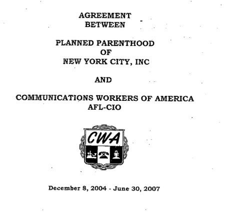 Planned Parenthood AFLCIO 2004 thru 2007