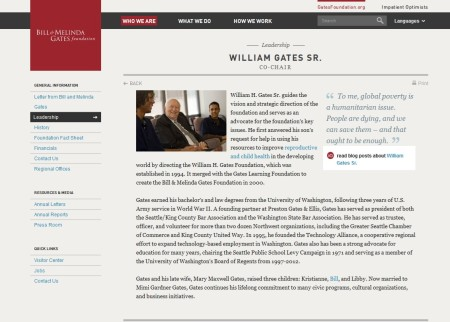 William Gates Bio