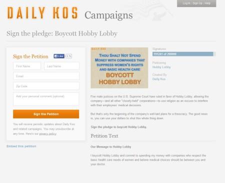 Daily Kos HL Boycott