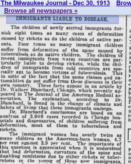 Immigrants Disease