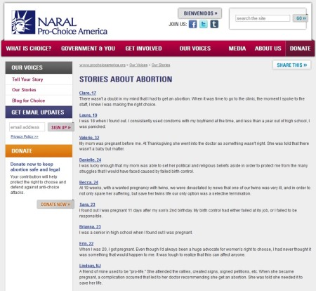 Abortion websites with citation