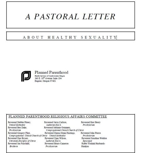 Planned Parenthood Clergy Sexuality header