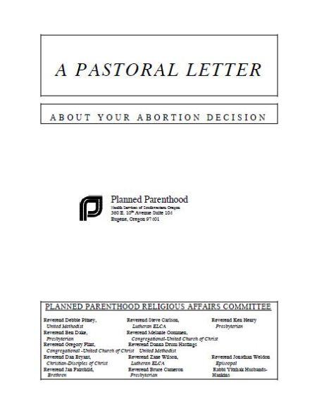 Planned Parenthood Pastoral Letter 2 Header