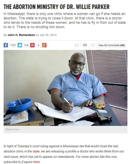 Abortion Ministry Willie Parker Esq