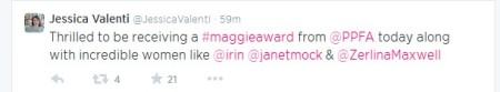 Jessica Valenti PP Maggie Award