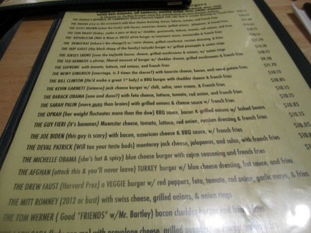 Mr Bartleys Menu