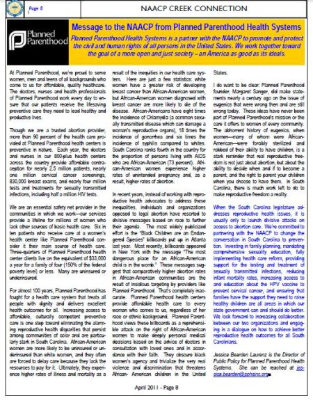2011 Newsletter NAACP  PP