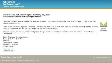 2013 Planned Parenthood Memphis
