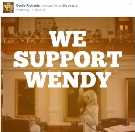 Cecile Richards Wendy Davis PP