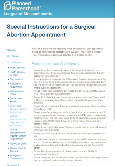 Instructions for Surgical abortion Planned Parenthood