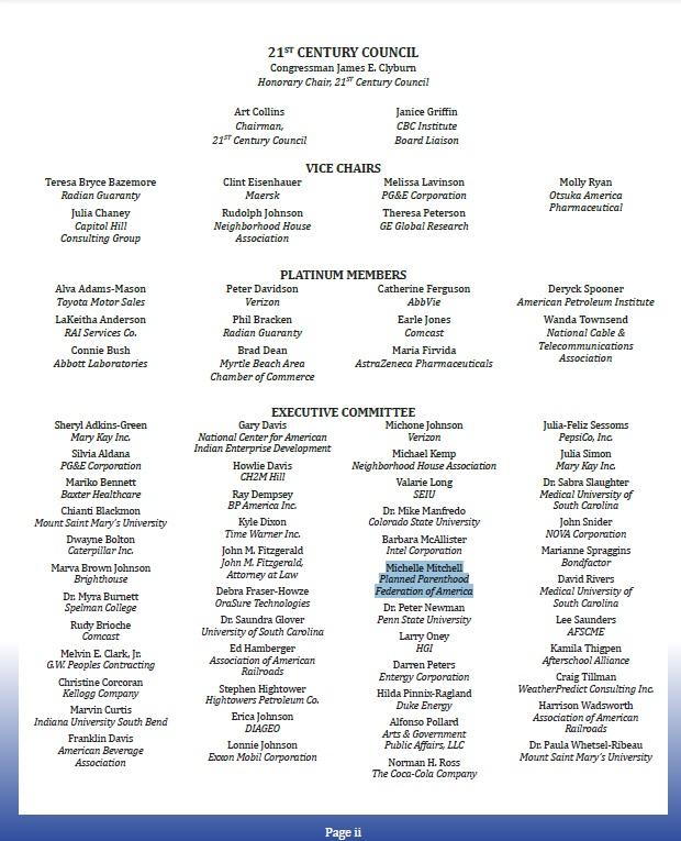 PP member exec committee Black Caucus