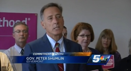 Vermont Gov endorsed by Planned Parenthood
