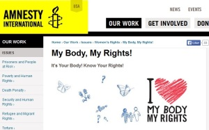 Amnesty My Body my Rights campaign