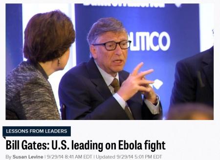 Bill Gates Politico Ebola