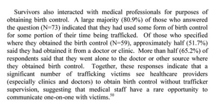 Birth Control Sex Trafficking