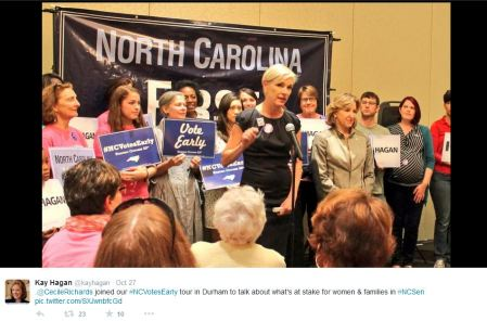 Cecile Richards Kay Hagan 2
