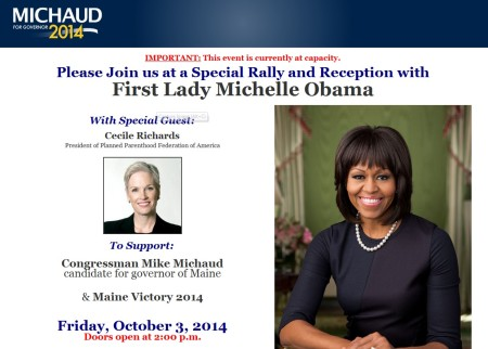 Cecile Richards Michele Obama Mike Michaud