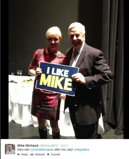 Cecile Richards Mike Michaud Tweet