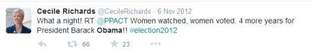 Cecile Richards Obama 2012