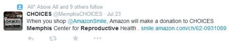 Choices Amazon Smile