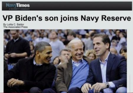 Hunter Biden Joins Navy