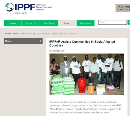 IPPF Ebola Press Release PP