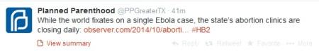PP Ebola Tweet