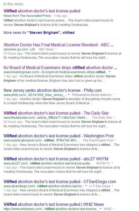 Vilified Brigham Google