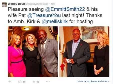 Wendy Davis Emmitt Smith
