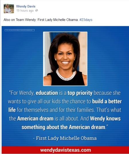 Wendy Davis Michelle Obama